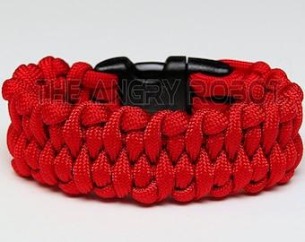 550 Paracord Bracelet Dragon's Tongue - Red