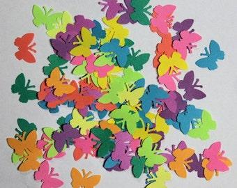 Rainbow Butterflies Table Confetti Die Cuts