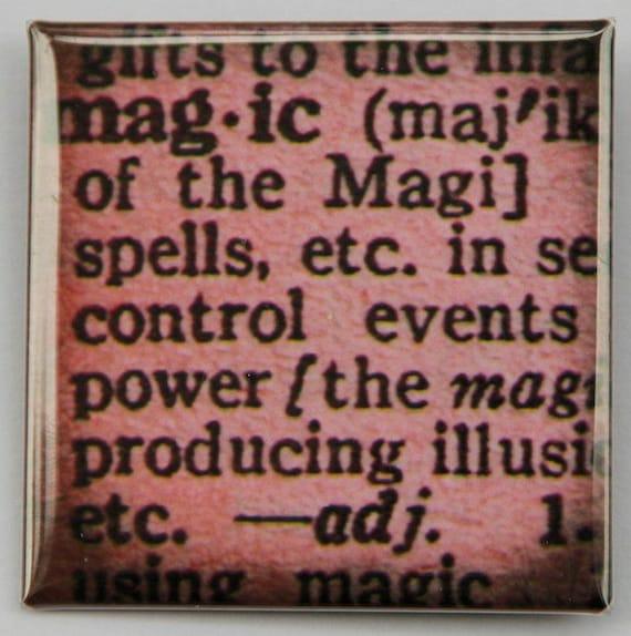 Magic Definition - Button Pinback Badge 2 inch Square