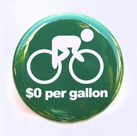Ride A Bike - Button Pinback Badge 1 1/2 inch 1.5