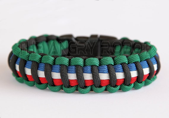 Paracord Survival Bracelet - Afghanistan Campaign Medal Colors