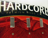 HardCore - Recycled Triple Light Switch Cover, Hard Apple Cider, Beer, White, Red, Black, Fruit, Garden, Fall, Harvest