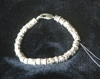 SHARK VERTEBRAE Bracelet, Sterling Silver Ready to Ship