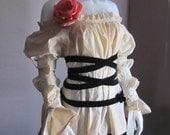 Plus Size. Plus Size Clothes. Summer. Spring. Ivory. Blouse. Renaissance. Steampunk. Victorian. S, M, L, XL, XXL