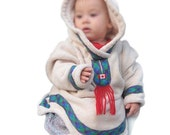 Baby Toddler  Coat. Boy or Girl. 12mo. 3T.  4T. Unisex Baby clothes. Baby Jacket. Amauti Inspired. Hand Made in CANADA.