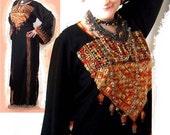 Vintage Bedouin Dress. Palestinian Dress. Thobe. Tunic. Ethnic Dress. Cross Stitch. Cotton Floss. Holy Land. Vintage
