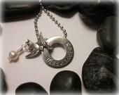Hunger Games Mockingjay necklace - hand stamped