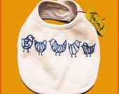BirDie Bib- Screen Printed by Hand