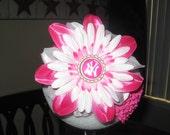 Pink Yankee Flower or headband