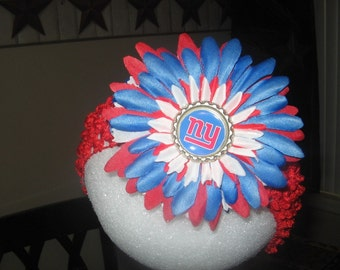 NY GIANTS FOOTBALL Headband or Flower