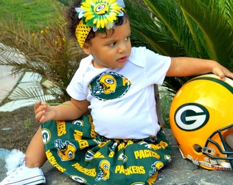 Green Bay Packers Dress Set.. and you pick the size...
