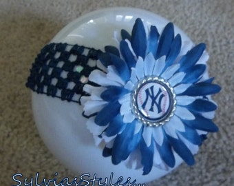 YANKEES FLOWER Headband