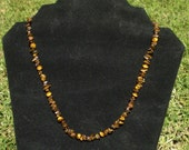 Tiger eye chips and rounds necklace