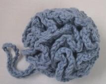 Bath/Shower Puff - Sky Blue Color - Hand Crocheted - Super Soft Cotton Yarn - Nice Gift