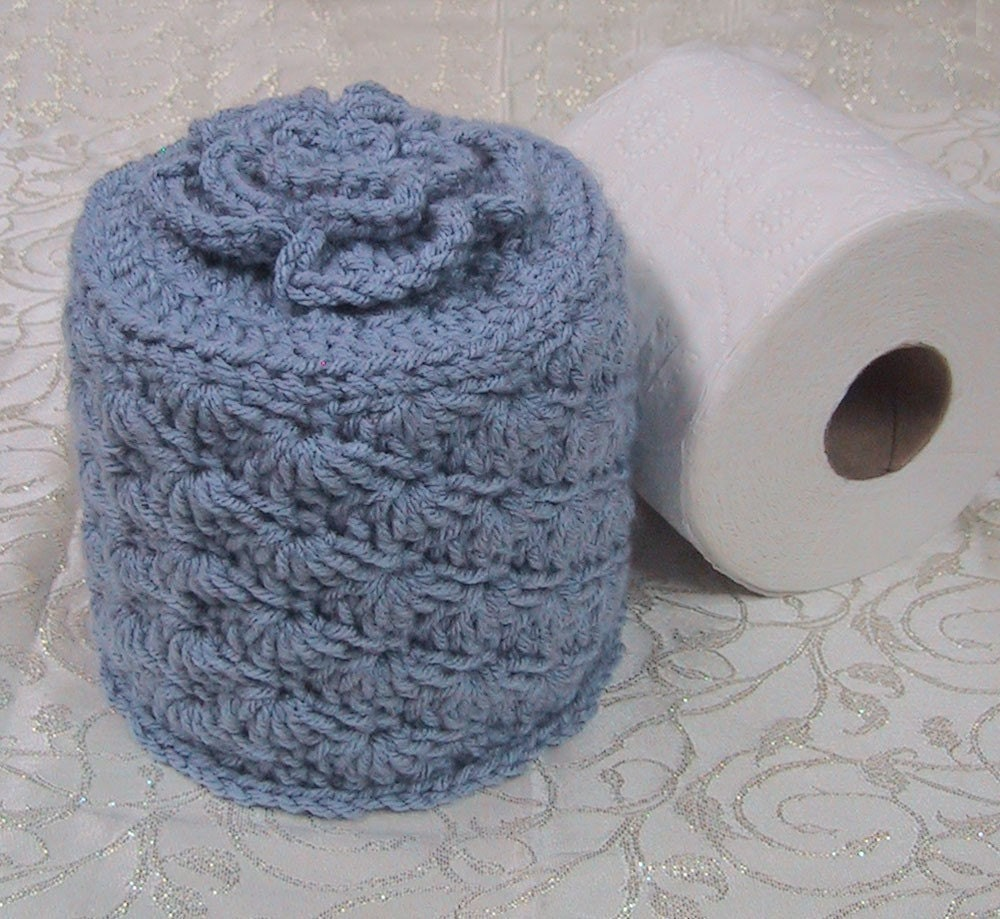 Cover Your Spare Toilet Paper Cover w Flower by