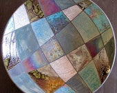 Raku patchwork bowl