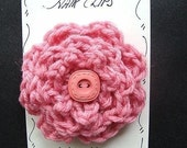 INSTANT DOWNLOAD Crochet Flower Pattern PDF 149 Make your own Hair Clips or Barrettes. Beginner level crochet pattern