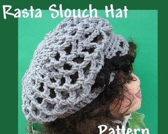 INSTANT DOWNLOAD Crochet Pattern PDF29,  Slouch Hat, Rasta Hat, one size fits all  super easy