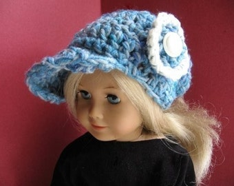 INSTANT DOWNLOAD Crochet Pattern PDF 5. American Girl Visor Hat