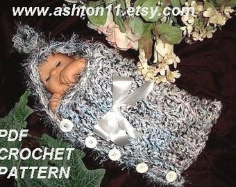 INSTANT DOWNLOAD Crochet Pattern PDF 30, Baby Pod with a Hood