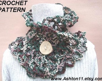 INSTANT DOWNLOAD Crochet Pattern PDF  50 Chunky Style Cowl or Shawl .Make in less than 1 hour -Beginner Level