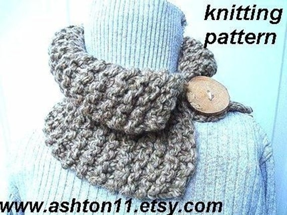 INSTANT DOWNLOAD Pattern Knitting for Beginners PDF 68, Toasted Wheat Cowl....Permission to sell your finished items