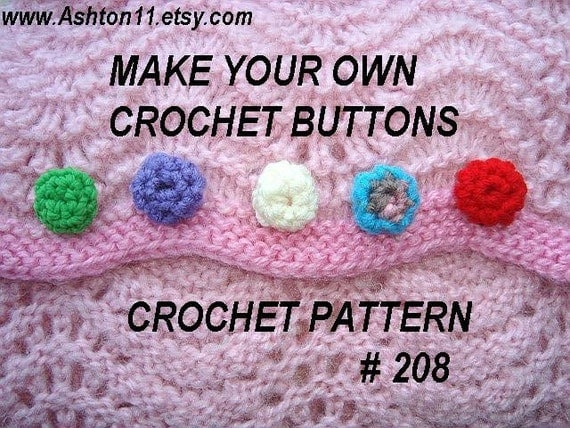 Crochet Pattern Software Free Download : INSTANT DOWNLOAD Crochet Pattern PDF 208 Handmade Crochet
