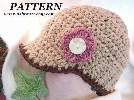 INSTANT DOWNLOAD Crochet Pattern PDF. 84-Classic European Newsboy Hat , Adult Size-22inch headband beginner level