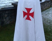 Full length Templar Style Cape -- MADE to ORDER