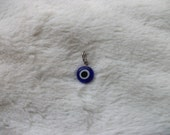 Lucky Blue Evil Eye Wire Wrapped Pendant