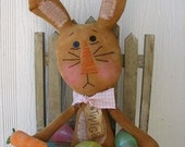 FTFD 8 - Twigs the Chocolate Easter Bunny - Holiday Primitive Rag Doll e-pattern - rabbit