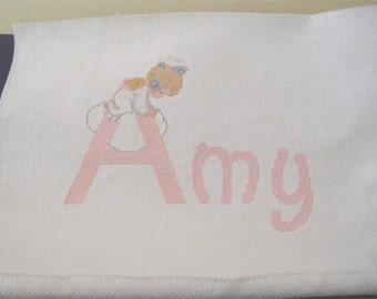 Precious Moments Cross Stitch of an Angel Named Amy