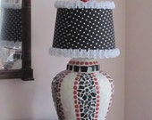 Mosaic Lamp with Polka Dot Shade - NellsBelles