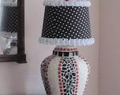 Mosaic Lamp with Polka Dot Shade