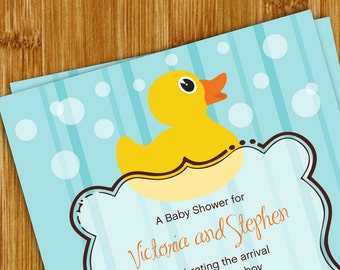 Rubber Ducky Baby Shower Invitation - 5x7 JPEG / PDF printable file