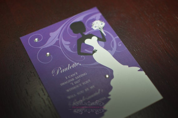 """Can't say """"I DO"""" without you - Flower Bridesmaid Card"""