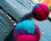 Jewel Toned Hand-felted Earrings