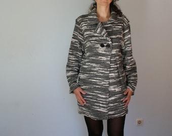 90s Wool Slouchy Blazer Cardigan Oversized Loose Medium Large