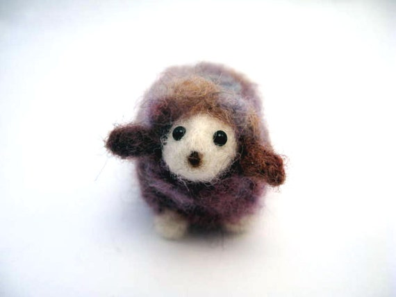 Lamb Needle felted Purple Sunset Wooly Cute