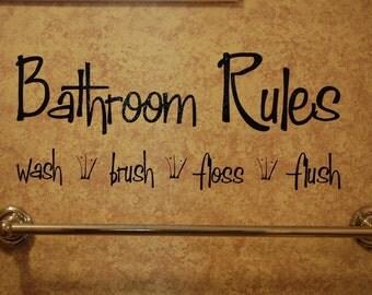 Bathroom Rules-Vinyl Wall Decal