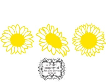 Sunflowers Set of 3 Vinyl Decal