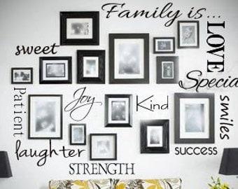 Small Family is.... Vinyl Wall Art