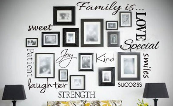 Medium Family is.... Wall Decal