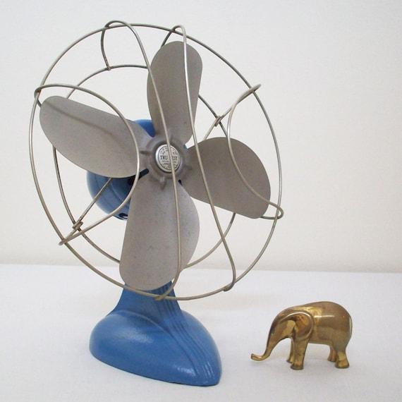 SALE - Blue Electric Table Fan
