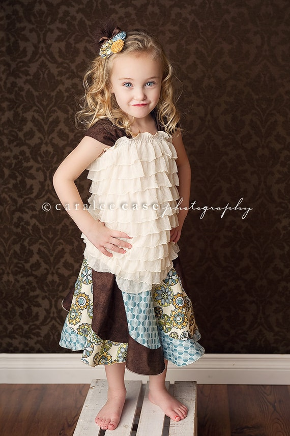 Girl's Fiona's Fancy Twirl Skirt and Ruffle Top Combo