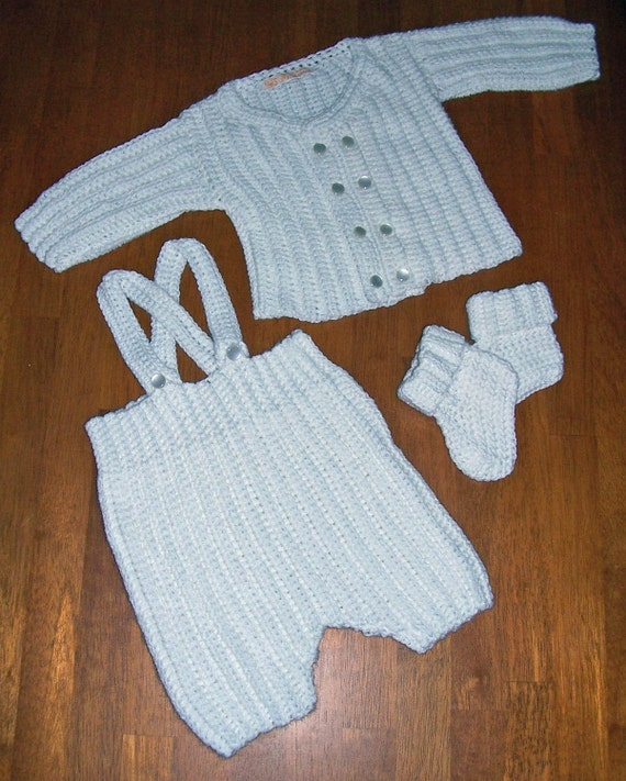 3pc Baby Boy's Christening Set