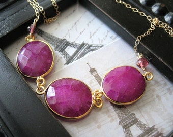 Framboise Confite - Candied Raspberry Necklace