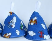 Pee Pee Cones - Airplanes - Set of 4
