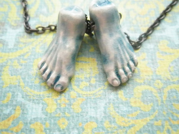 Feet necklace - reserved for MsVi