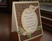 Friendship Card Shabby Chic